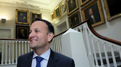Taoiseach Leo Varadkar arrives for a Fine Gael press conference to launch the party's economic plan (Brian Lawless/PA)