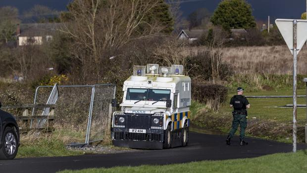 Police and ATO at the scene of a security operation in the Cornakinnegar road area of Lurgan on February 9th 2020 (Photo by Kevin Scott for Belfast Telegraph)
