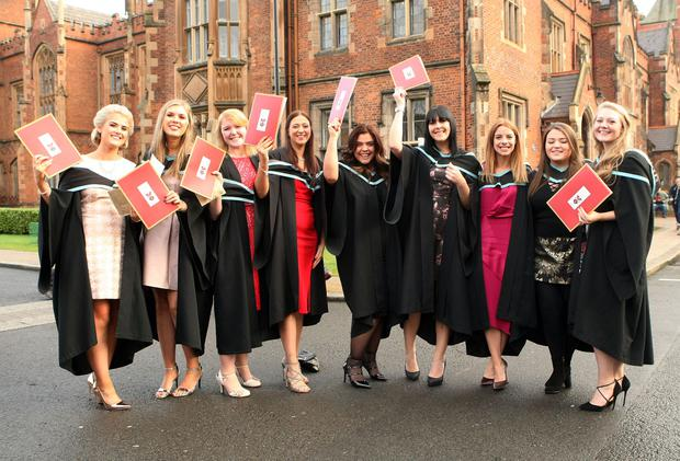 Mandatory Credit - Picture by Freddie Parkinson/Press Eye © Thursday 8th December 2016 Graduations take place at Queens University in Belfast. Graduations in Nursing