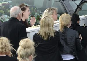 PACEMAKER BELFAST   24/03/2016 The funeral of five pier victims takes place at Holy Family Church, Ballymagroarty on Thursday. The victims were Ruth Daniels, her 14-year-old daughter Jodie Lee Daniels, her son-in-law Sean McGrotty, and his sons Mark, 12, and Evan, eight.  The only survivor was Mr McGrotty's four-month old daughter, Rionaghac-Ann. They died after their car slid off a pier in Buncrana County Donegal. Photo Colm Lenaghan/Pacemaker Press