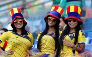 The beautiful game - football fans from around the world - Fans of the Colombia team