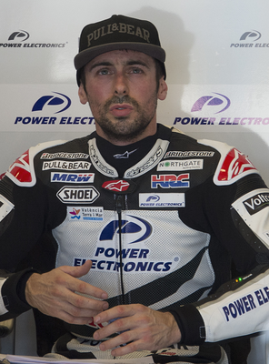 Big finish: Eugene Laverty jumped four places on the final lap