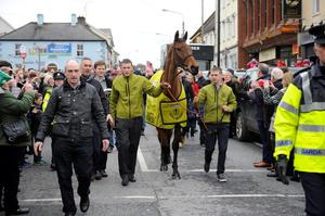 Crabbie's Grand National winner Rule The World during a homecoming event in Mullingar, County Westmeath, Ireland. PA Wire