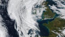 This composite NASA satellite image shows the extreme low pressure front bringing Storm Ciara to the whole of the British Isles. Credit: Atlas Photo Archive/NASA