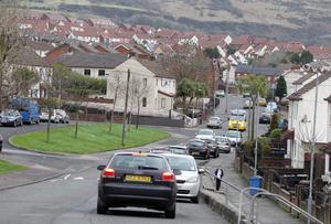 General view of Silverstream Road in north Belfast where a house was shot at late on Sunday evening. Pic Jonathan Porter