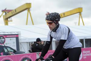 Gran Fondo Giro d'Italia Northern Ireland - Titanic Belfast - 21 June 2015 Presseye Delan Roughan  The Gran Fondo Giro d'Italia Northern Ireland gets underway from the titanic slipway in Belfast. Some 3,000 riders headed off on either the Strangford route or the Mourne route.