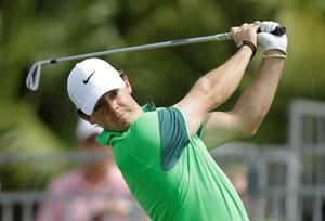 Up and down: Rory McIlroy showed his best and worst