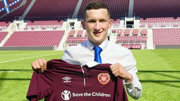 Glenavon's Bobby Burns has signed a three year deal at Hearts.