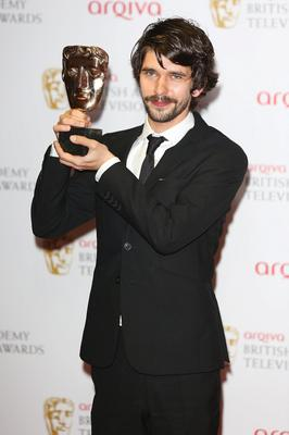 LONDON, ENGLAND - MAY 12: Ben Whishaw poses with his award for Best Actor the Arqiva British Academy Television Awards 2013 at the Royal Festival Hall on May 12, 2013 in London, England.  (Photo by Tim P. Whitby/Getty Images)