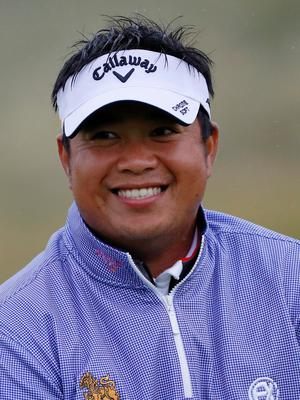 PORTRUSH, NORTHERN IRELAND - JULY 17: Kiradech Aphibarnrat of Thailand looks on during a practice round prior to the 148th Open Championship held on the Dunluce Links at Royal Portrush Golf Club on July 17, 2019 in Portrush, United Kingdom. (Photo by Kevin C. Cox/Getty Images)