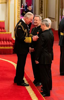 Classical music group the Priests, the Very Reverend David Delargy, the Reverend Eugene OÕHagan and the Reverend Martin OÕHagan are given their MBE (Member of the Order of the British Empire) medals by the Prince of Wales during an investiture ceremony at Buckingham Palace in London. Picture date: Thursday March 5, 2020. See PA story ROYAL Investiture. Photo credit should read: Dominic Lipinski/PA Wire
