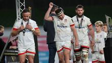 Rob Herring takes the silver medal off after his side's PRO14 final defeat.