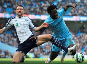 Wilfried Bony and Gareth McAuley