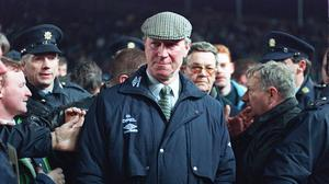 Former England World Cup winner and Republic of Ireland manager Jack Charlton, who passed away on Saturday aged 85 (PA)