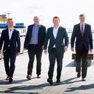 Allen Martin, partner Kernel Capital; Simon Cole and Fergus McIlduff of Automated Intelligence; William McCulla, director corporate finance Invest NI, and Niall Devlin from Bank of Ireland