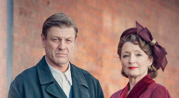 Sean Bean and Lesley Manville in World On Fire