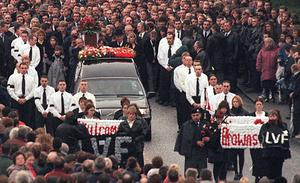 Funeral of loyalist Billy Wright in Portadown - Wright was shot by an INLA inmate at the Maze Prison