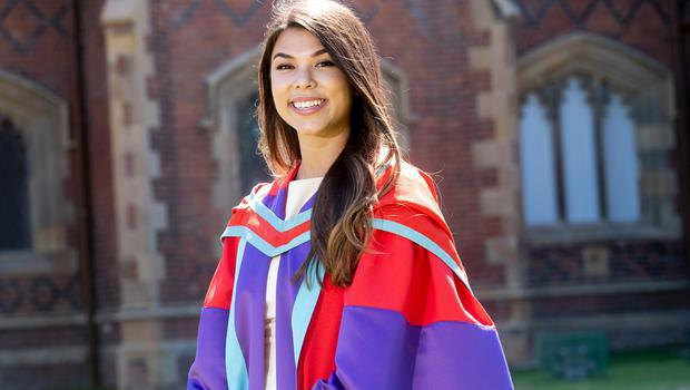 Hannah Little graduates today with a Doctor of Philosophy from the School of Mechanical and Aerospace Engineering at Queen's University.
