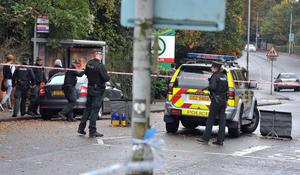The scene on Malone road where Enda was killed