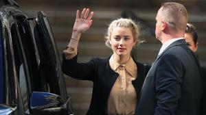 Amber Heard faced questioning over several allegations she has made against Johnny Depp about his violent conduct in the course of their relationship (Aaron Chown/PA)