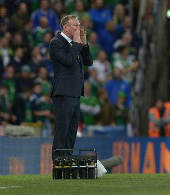 PACEMAKER BELFAST  05/10/2017 Northern Ireland v Germany World Cup Qualifier Group C Northern Ireland Manager Michael OÕNeill  during this evenings game at the National Stadium in Belfast. Photo Colm Lenaghan/Pacemaker Press