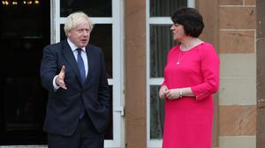 Prime Minister Boris Johnson and First Minister Arlene Foster (PA)