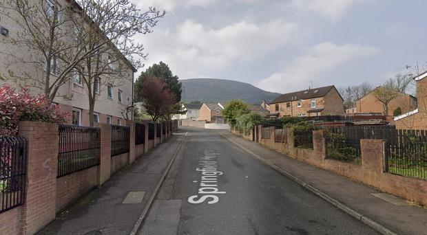 The incident happened in the Springfield Heights area of Belfast.