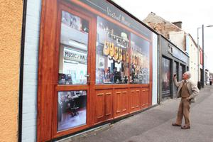 Snapping the music shop in Ballymoney.PICTURE MARK JAMIESON.