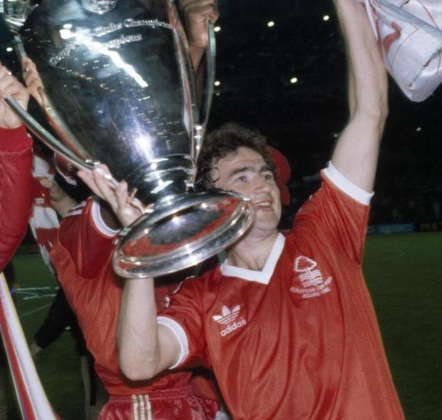 Finally: Having been sidelined through injury for Nottingham Forest's victorious 1979 final, Martin O'Neill got the full experience a year later as he helped Brian Clough's side retain the European Cup.