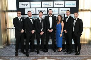Press Eye - Belfast - Northern Ireland - 2nd May 2019 -   Staff from Groundswell pictured at the Belfast Telegraph Business Awards in association with Ulster Bank at the Crowne Plaza Hotel, Belfast. Photo by Kelvin Boyes / Press Eye.