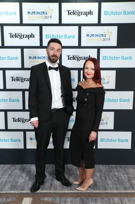 Press Eye - Belfast - Northern Ireland - 2nd May 2019 -   Ryan McAleer and Emma Deighan pictured at the Belfast Telegraph Business Awards in association with Ulster Bank at the Crowne Plaza Hotel, Belfast. Photo by Kelvin Boyes / Press Eye.