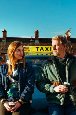 Patrick Kielty with Seána Kerslake in the new film Ballywalter