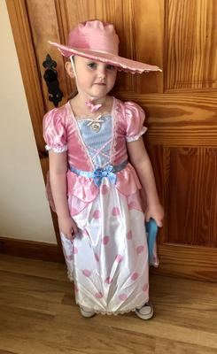Emma Dumigan, aged 6 from Newtownabbey as Bo Peep from Toy Story