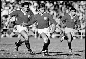 Kicking on: Colin Patterson in action for the British and Irish Lions