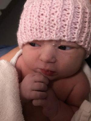 Ivy was born at 6.18am (NHS Forth Valley/PA)