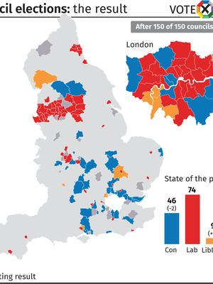 Council elections: the result after 150 of 150 councils declared (PA Graphics)