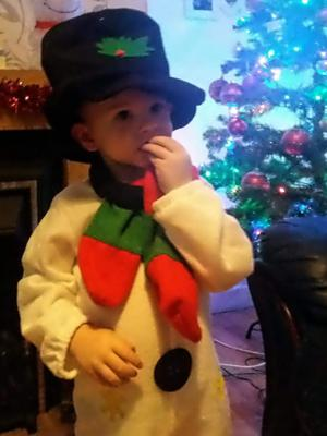 Vicki Stewart says this is her little snowman Jay from Belfast
