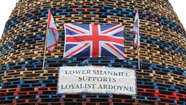 11th July Bonfires. Lower Shankill 11-07-2015