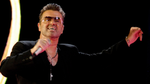 May 25, 2007  - George Michael performing on stage in Bratislava during his concert as part of his European Tour.