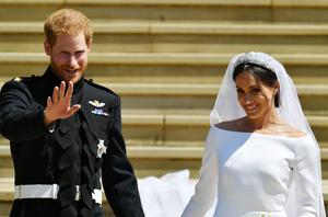 Harry and Meghan on their wedding day (Ben Birchall/PA)