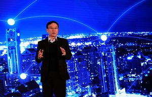 LAS VEGAS, NV - JANUARY 04:  Hyundai Motor Co. Executive Vice President Dr. Seung Ho Hwang speaks during a press event for CES 2017 at the Mandalay Bay Convention Center on January 4, 2017 in Las Vegas, Nevada. CES, the world's largest annual consumer technology trade show, runs from January 5-8 and is expected to feature 3,800 exhibitors showing off their latest products and services to more than 165,000 attendees.  (Photo by Ethan Miller/Getty Images)