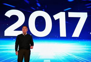 LAS VEGAS, NV - JANUARY 04:  Hyundai Motor Co. Vice Chairman Euisun Chung speaks during a press event for CES 2017 at the Mandalay Bay Convention Center on January 4, 2017 in Las Vegas, Nevada. CES, the world's largest annual consumer technology trade show, runs from January 5-8 and is expected to feature 3,800 exhibitors showing off their latest products and services to more than 165,000 attendees.  (Photo by Ethan Miller/Getty Images)