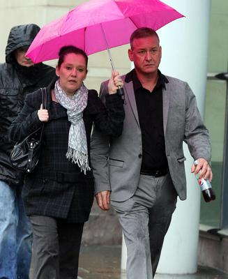 Aine Adams, the daughter of Liam Adams arrives at Belfast Crown Court as the jury has retired to consider its verdict in the case against Mr Adams, who is accused of 10 counts of child sex abuse against Aine who has waived her right to anonymity.