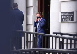 Former boxing world champion, Carl Frampton arrives at Belfast High court for his legal battle with his former manager, Barry McGuigan. Picture By: Arthur Allison/ Pacemaker Press