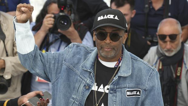 Director Spike Lee poses for photographers during a photo call for the film BlacKkKlansman at the 71st international film festival in Cannes (Joel C Ryan/Invision/AP)