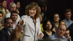 Fiona Bruce during a BBC Question Time Leaders' Special (Jeff Overs/BBC)