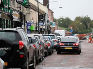 Free for all: Cars parked in Coalisland