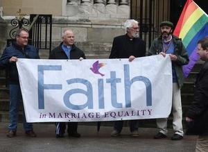 PACEMAKER BELFAST  1/7/2017 Thousands take part in a marriage equality march in Belfast on  Saturday from Writers square to Belfast City Hall. The march has been organised by the Love Equality campaign which is led by the Rainbow Project, Amnesty International, Irish Congress of Trade Unions, Cara-Friend, NUS-USI and HereNI.  Campaigners are calling for a law change in line with the UK and Ireland. Photo Colm Lenaghan/Pacemaker Press