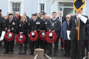 The remembrance service in Ballycastle