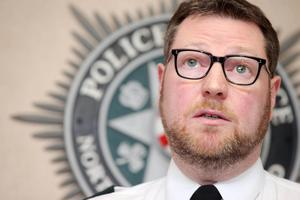 The PSNI's Assistant Chief Constable Stephen Martin holds a press conference at police headquarters Knock after a prisoner officer was injured after a device exploded under is car as he drove along Hillsborough Drive off the Woodstock Road in east Belfast.    Picture by Jonathan Porter/PressEye